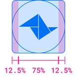 Clear Space Icon round